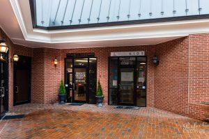 Door entrance of Hair Salon Falls Church VA
